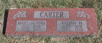 Elijah and Martha Carter marker